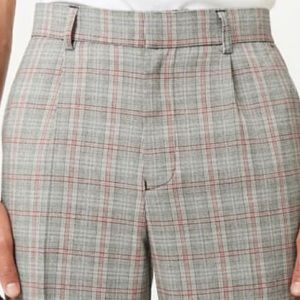 Forever 21 Men's 34W Glen Plaid Pants -Grey